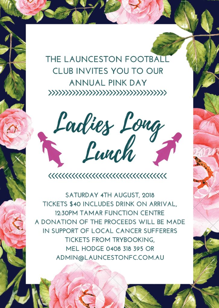 Ladies Long Lunch – Annual Pink Day
